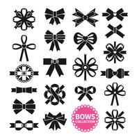 Black Bows Set vector