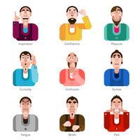 Conjunto de ícones de emoção