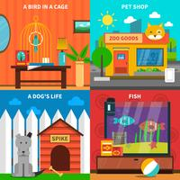 Animali domestici Concept Set
