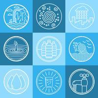 Water emblem set vector