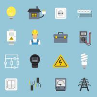 Électricité Icons Set