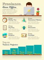 Freelance infographics set