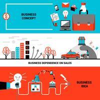 Concepto de Banners de negocios