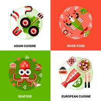 Concept de design de fruits de mer