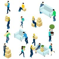 People Relocating Isometric