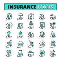 Jeu d'icônes d'assurance