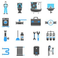 Sanitär Icons Set