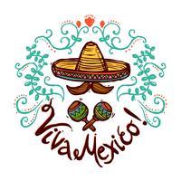 Illustration de croquis du Mexique
