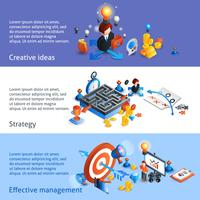 Geschäftsstrategie isometrische Banner