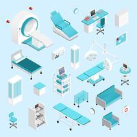 Krankenhaus isometrisch eingestellt