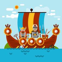 Viking Boat Background