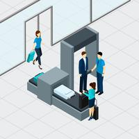Airport Security Check vector