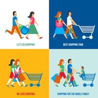 Concepto de diseño de la gente de compras