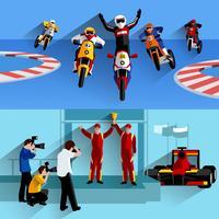 Racing Banners Set vector