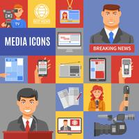 Journalistiek Icons Set