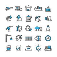 Logistiek Icons Set