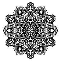 Mandala Noir Et Blanc vecteur