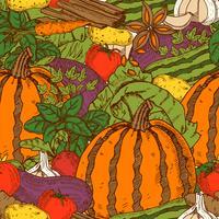 Gemüse-nahtloses Muster