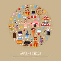 Incrível conceito de circo