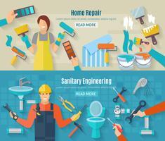 Home Repair Banner Set