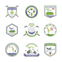Conjunto de emblemas de golf