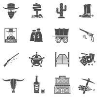 Cowboy Ikoner Set