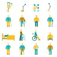 People With Disabilities Icons Set