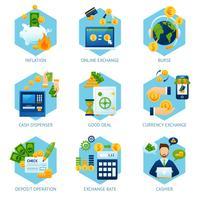 Geldwechsel-Konzept-Set