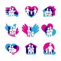 Conjunto de logos familiares