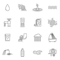 Water Icons Line