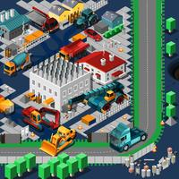 Isometric Construction Machines Concept