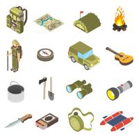 Set Of Hiking and Camping Icons
