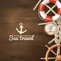 Sea Travel Background  vector