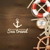 Fondo de viaje por mar