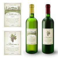 Set di etichette di vino