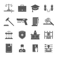 Conjunto de ícones de aplicação da lei