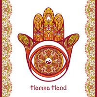 Färgad Hamsa Hand