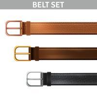 Set de cinturones realistas