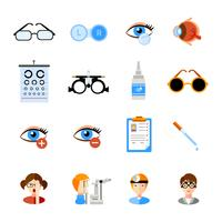 Oftalmologie Icons Set