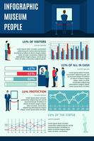 Infographic People Visiting Museums  vector