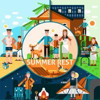 Concepto de descanso de verano
