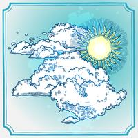 cornice del cielo soleggiato