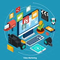 Video Marketing Isometric Concept