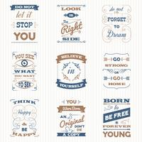 Citations Typographie Retro Set