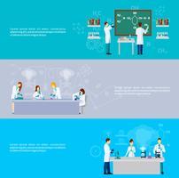 Conjunto de banners de científico