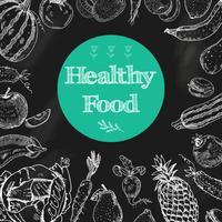 Healthy food chalkboard background