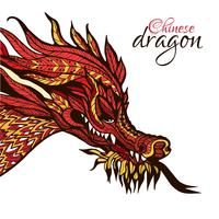 Mão desenhada dragão
