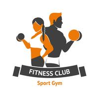 Logo du club de fitness vecteur