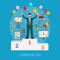 Concepto de vida de campeón
