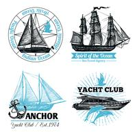 Marine Labels Set
